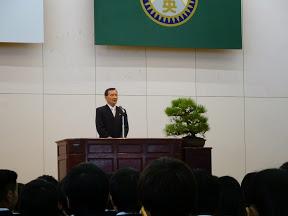 飯塚校長式辞