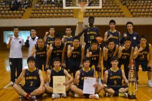 男子バスケットボール部県大会優勝